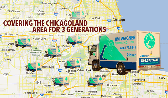 Jim Wagner Chicagoland service area map