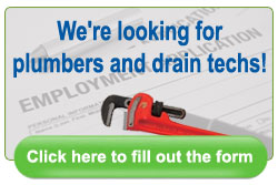Jim Wagner Plumbing is looking for plumbers and drain techs