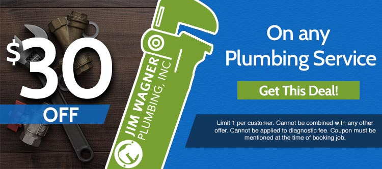 discount on any plumbing service in Lombard Illinois